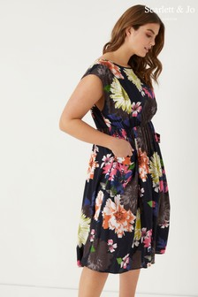 Scarlett & Jo Floral Print Pocket Dress