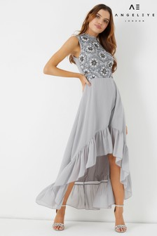 Angeleye Embellished High Low Dress
