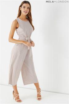 Mela London Striped Culotte Jumpsuit