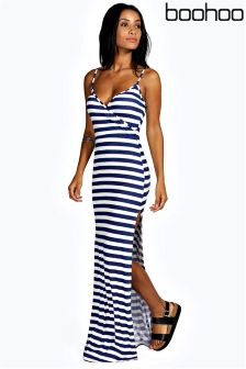 Boohoo Maxi Stripe Dress
