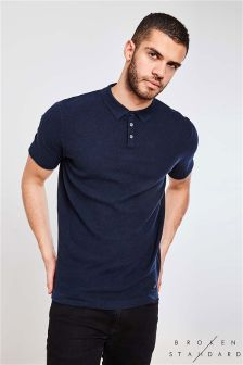 Broken Standard Knitted Polo Shirt