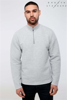 Broken Standard Chester Funnel Neck Sweat Top