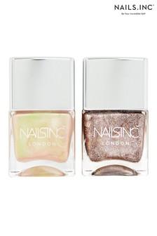 Nails Inc Rose Gold Champagne Gift Set
