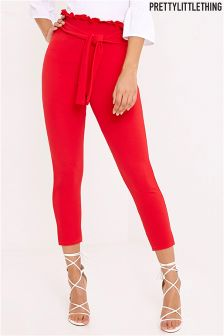 PrettyLittleThing Paperbag Skinny Trousers