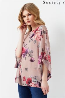 Society 8 Floral Print Blouse