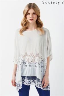Society 8 Lace Knitted Jumper