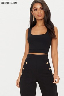 PrettyLittleThing Square Neck Crop Top