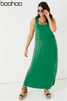 Boohoo Plus Racer Back Maxi Dress