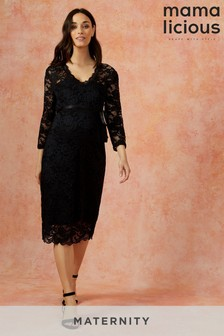 Mamalicious Maternity Lace Jersey Dress