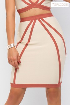 The Girl Code Contour Co-ord Midi Skirt