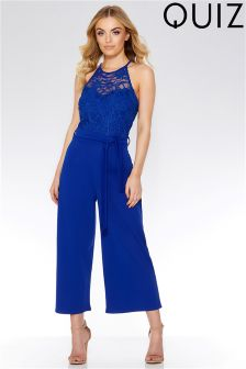 Quiz Lace Detail Tie Belt Jumpsuit