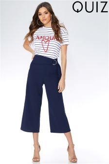 Quiz Crepe D Ring Culotte Trousers