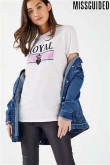 Missguided Pink Logo Tee