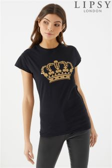 Lipsy Crown Slogan Tee