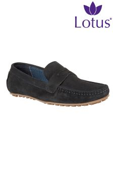 Lotus Slip-On Leather Shoes