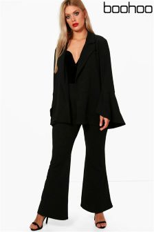 Boohoo Plus Flare Trousers