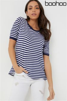 Boohoo Basic Short Sleeve Stripe T-Shirt