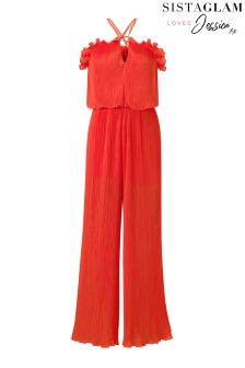 Jessica Wright Pleated Jumpsuit