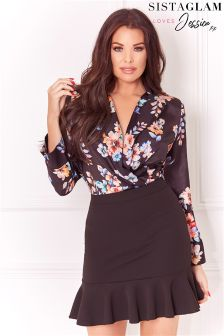 Jessica Wright Floral Print Bodysuit