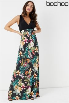 Boohoo Printed Maxi Dress