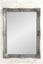 Pewter Overmantle Mirror