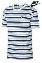Luke White/Mint Worcester Striped Polo