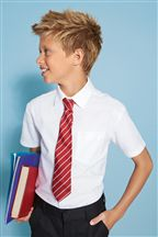 White Short Sleeve Oxford Shirt (3-16yrs)