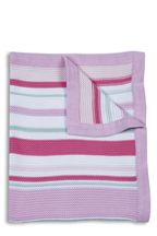 Cotton Stripe Knitted Blanket