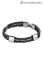 Beaverbrooks Men's Leather Bracelet