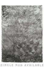 Fine Charcoal Grey Sparkle Rug