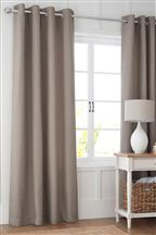Harrison Light Natural Eyelet Curtains