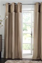 Mink Ella Eyelet Curtains