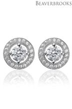 Beaverbrooks Silver Cubic Zirconia Stud Earrings