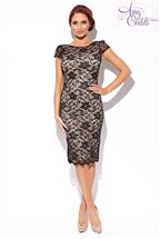 Amy Childs Cap Sleeve Lace Dress