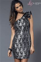 Lipsy One Shoulder Lace Dress