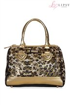 Lipsy Logo Leopard Bag