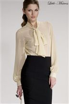 Little Mistress Bow Front Blouse