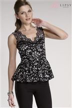 Lipsy Lace V Neck Top