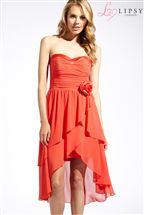 Lipsy Corsage Layered Bandeau Dress