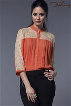 Darling Lace Shoulder Blouse