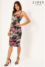 Lipsy Floral Bandeau Playsuit