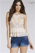 Lipsy Premium Embellished Top