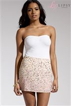 Lipsy Embellished Mini Skirt