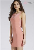 Lipsy Cowl Back Glitter Dress