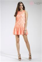 Lipsy Lace Drop Waist Dress