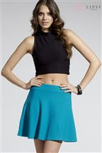Lipsy Ribbed Skater Skirt