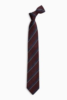 Signature Burgundy/Navy Striped Tie