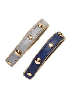 Grey/Navy Stud Cuffs Two Pack