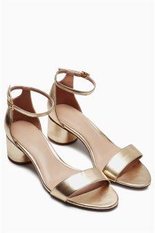 Forever Comfort Cylinder Heel Sandals
