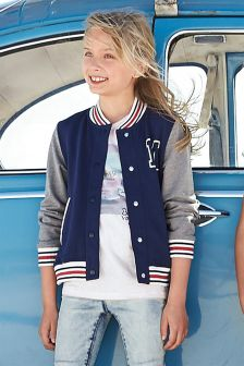 Navy Varsity Jacket (3-16yrs)
